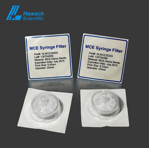 Filtros de jeringa estériles 0,22 MCE
