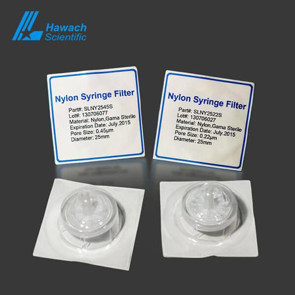 Filtros de jeringa estériles 0,22 nylón