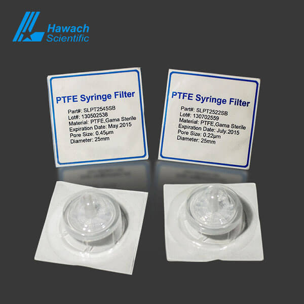 0.22 filtro de jeringa estéril de ptfe hidrofóbico estéril para hplc