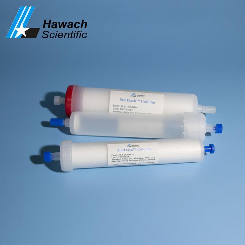 40 columnas de flash de gel de sílice cromatográficas estándar