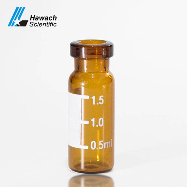 Viales de muestra de HPLC de vidrio con acabado en ámbar