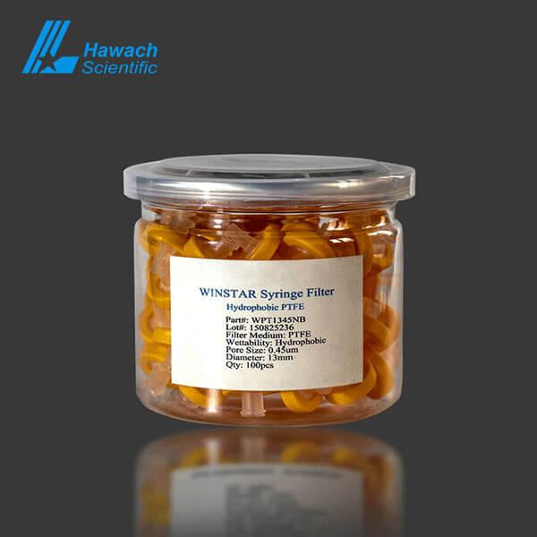 Filtros de jeringa de PTFE hidrofóbicos desechables