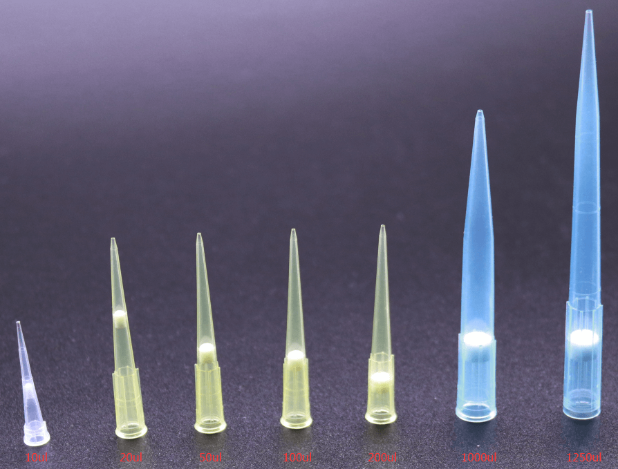 puntas de pipeta filtradas